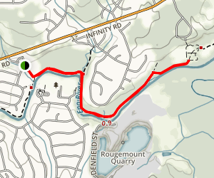 Mountain to Sea Trail from River Forest Park Map