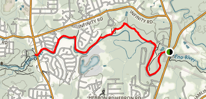 Mountain to Sea Trail: Penny's Bend to West Point Map