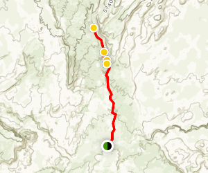 Red Breaks Slot Canyon Trail Map