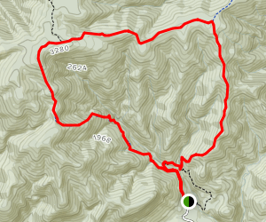 Mount Richardson, Blowhard, and Bypass Tracks Map
