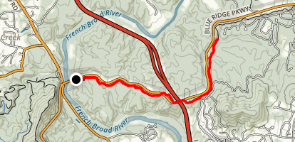 Blue Ridge Parkway: French Broad River to Dingle Creek Map