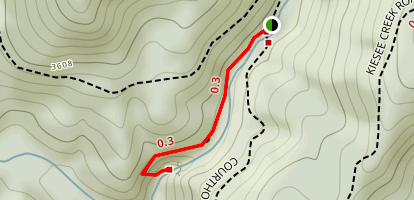 Courthouse Falls via Summey Cove Trail Map