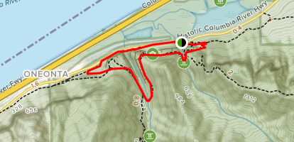 Oneonta Trail and Gorge Trail Short Loop (CLOSED) Map