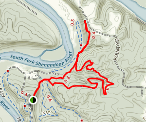 Point Trail to Wildcat Ridge Loop Map