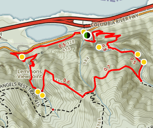 Wahkeena Falls Loop Trail (CLOSED) Map