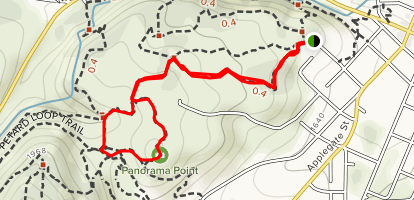 Britt Canyon to Oregon Trail and Panorama Point Map