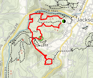 Chinese Diggings and Jacksonville Mine Loop Trail Map