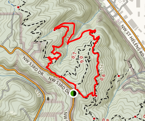 Wildwood, NW Leif Erikson and Alder Loop Map