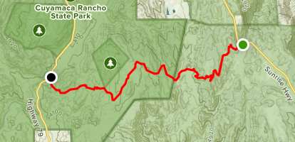 Harvey Moore Trailhead to Pioneer Mail Picnic Area Map