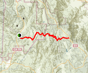 Harvey Moore to Penny Pines Via Noble Canyon Trail Map