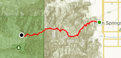 Skyline Trail to Aerial Tramway Top Station Map
