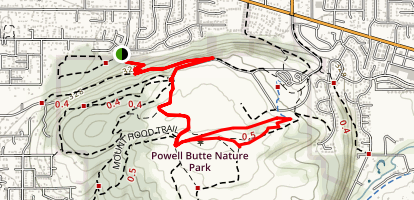 Powell Butte via Meadowland Lane Map