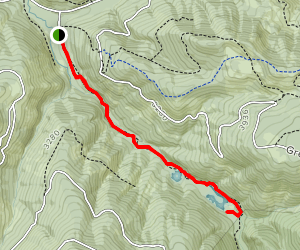 Greenwater Lakes Trail Map