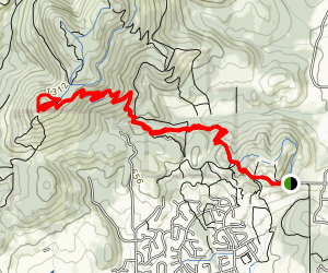 Dan's Trail from Chip Ross Park to Dimple Hill Map