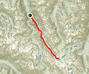 East Fork Lostine Trail 1662 to Mirror Lake Map