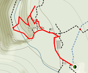 South Falls via Canyon Trail Map