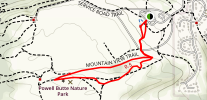 Mountain View and Wild Horse Loop Map