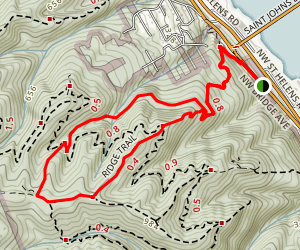 Ridge Trail and Hardesty Trail Loop Map