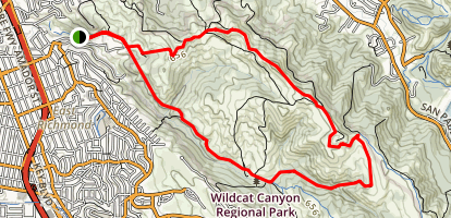 Wildcat Creek Trail, Havey Creek Trail, San Pablo Ridge Trail, and Belgum Trail Map