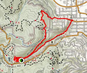 Wildwood Trail and Lower Macleay Trail Loop Map