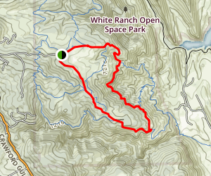 Longhorn Trail to Shorthorn Trail to Belcher Hill Trail to Sawmill Trail Loop Map