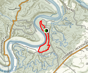 Hemlock Hollow, Bluebell,  and Overlook Trails Loop Map
