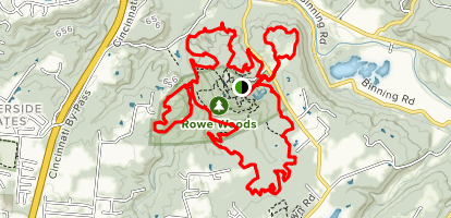 Rowe Woods Perimeter Trail Map
