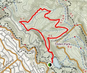 Lake Anza, Wildcat Gorge, Meadows Canyon, Curran Trails Map