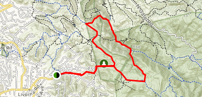 Alamo, Briones to Mt. Diablo Regional Trail, Stage Ravine and Little Yosemite Valley Loop  Map