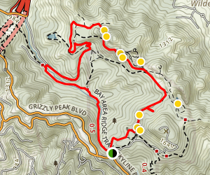 Overlook Trail, Round Top Loop Trail, Volcanic Trail, Quarry Road, Skyline Trail Map