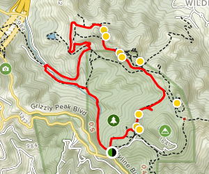 Round Top Loop Trail to Volcanic Trail to Skyline Trail Loop Map