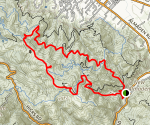 Deep Gulch, Castillero, Mine Hill, Prospect #3 and Randol Trail Loop Map