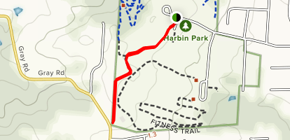 Harbin Park Path Map