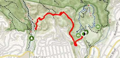 River Canyon and Temescal Canyon Trail Map