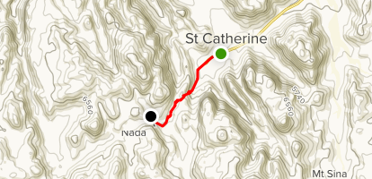 St Catherine to Om El Saad Garden Map