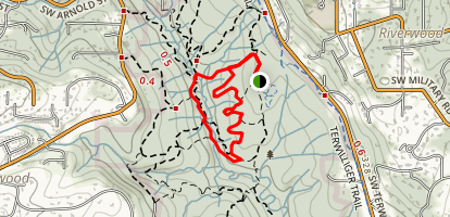 Maple Ridge, Center, Big Fir, Old Main, West Horse and Middle Creek Loop Map