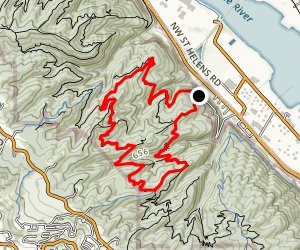 Maple and Wildwood Trail Loop Map