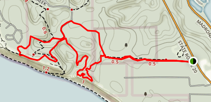 Kettles Recreation Area to Fort Ebey Loop Map