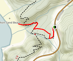 Cedar Crossing and Oregon Coast Trail to Short Sand Beach Map