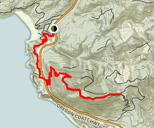 Neahkahnie Mountain (Northern Approach) Map
