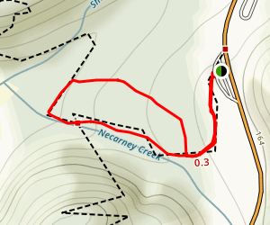 Necarney Creek and Cedar Crossing Trail Loop Map