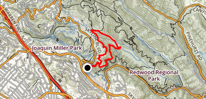 Dunn Trail, Baccharis, West Ridge, Graham Trail Loop Map