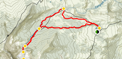 Canyon Creek Meadows Loop Map
