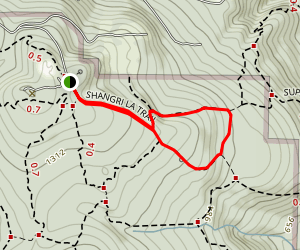 Surprise Creek Trail to Shangri La Trail Loop Map