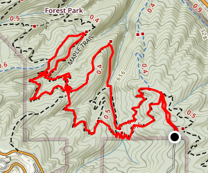 Wildwood, Maple, Firelane, Nature Loop Map