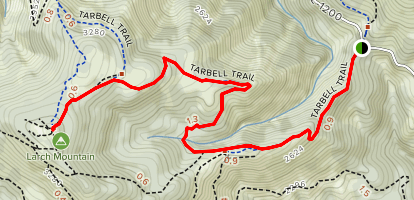 Larch Mountain via Tarbell Trail Map