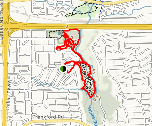 Katie Jackson Park Yellow, Black, and Blue Loop Map