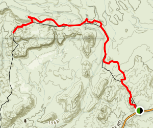 Bowl of Fire Trail through Bitter Spring Valley Map