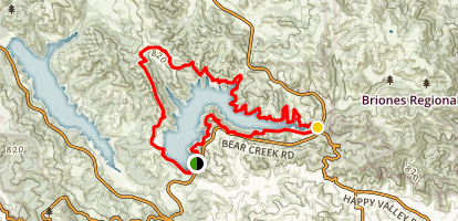 Briones Reservoir Loop Trail Map