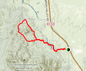 Baby Granite Loop Trail from Williamson Valley Trailhead Map